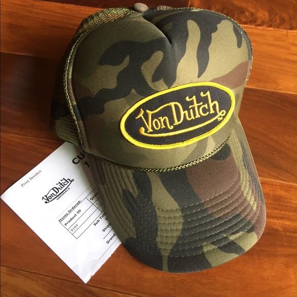 3fbaf49fafa74 Von Dutch Camo Trucker Hat. M 59c2e0096a583098f0001166