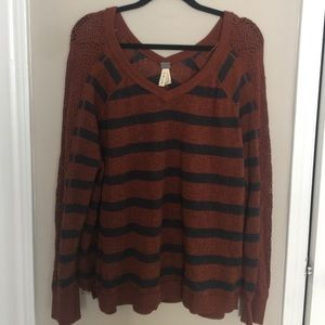 Free People Slouchy Striped Sweater