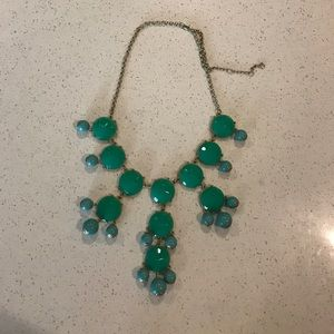 Teal color necklace