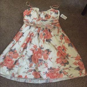Floral semi formal dress