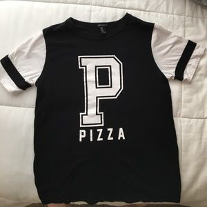 """Forever 21 """"Pizza"""" varsity tshirt"""
