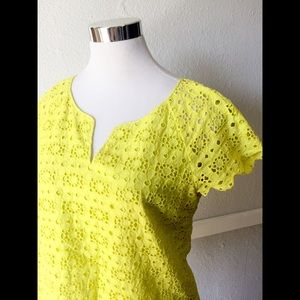 J.Crew Collection Eyelet Tee With Scalloped Edge 8