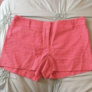 LOFT orange patterned shorts