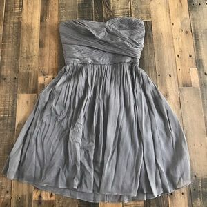 J.crew formal gray sweetheart dress