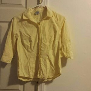 Yellow Old Navy Flannel