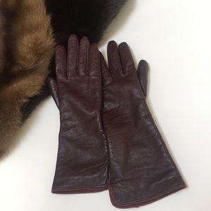 """""""Calvin Klein"""" leather Gloves • Size Medium •"""