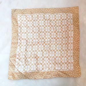 Coach %100 silk monogram scarf for fall