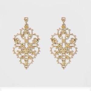 Sugar Fix by Baublebar Jewelry - Filigree Gold Drop Earrings