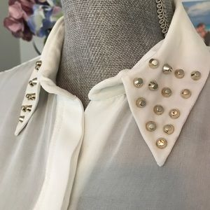 Zara blouse with the collar studs details size S