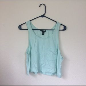 Forever 21 mint tank top