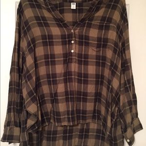 Old Navy—Green Plaid Blouse