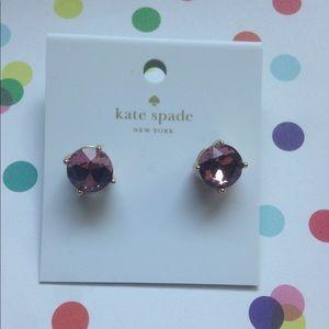 Kate Spade ♠️Gumdrop Studs in Lilac Petal 💜