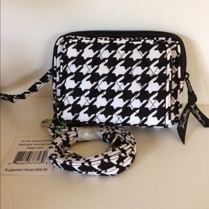 Vera On the Square Wristlet Crossbody  Houndstooth