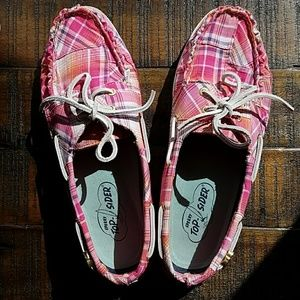 Rainbow Plaid Boat Shoes