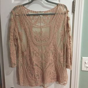 Sheer top  size large