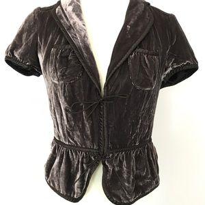 Banana Republic Sz 4 Ruched Lace Up Blazer Jacket