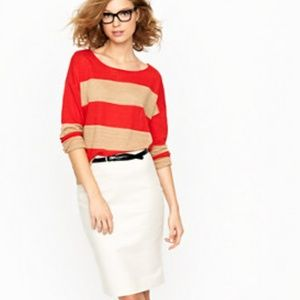 NWT J. Crew No. 2 Pencil Skirt Khaki Size 10