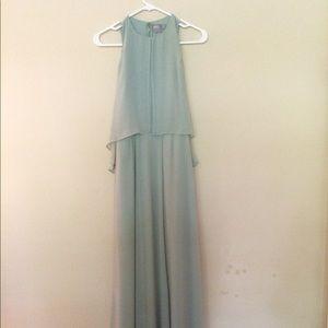 👗🎀 mint cold shoulder maxi dress