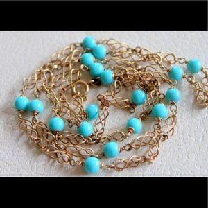 Solid 14k gold UNO A ERRE Italy necklace vintage