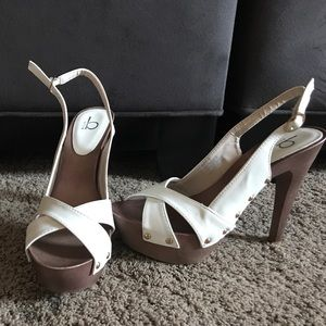 White Bakers heels