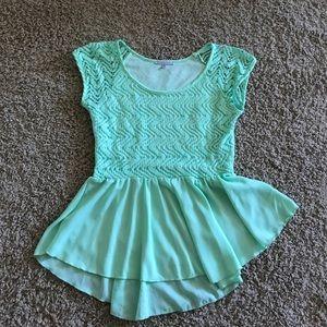 Lace flowy top
