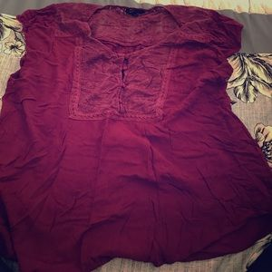 Wine colored shirt