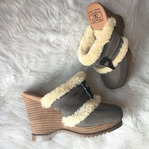 NEW Lucky Faux fur Mules