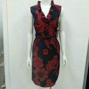 GORGEOUS  NWT Jessica Howard Red Rose Dress Sz. 14