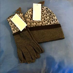 Michael Kors Beanie & Gloves Set (includes both)