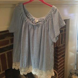 Off the shoulder top with lace detail