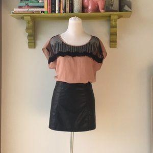 Mauve pink blouse