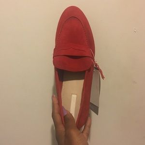 Suede red loafers from H&M