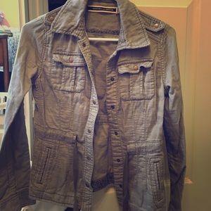 Gray Anthropologie Jacket