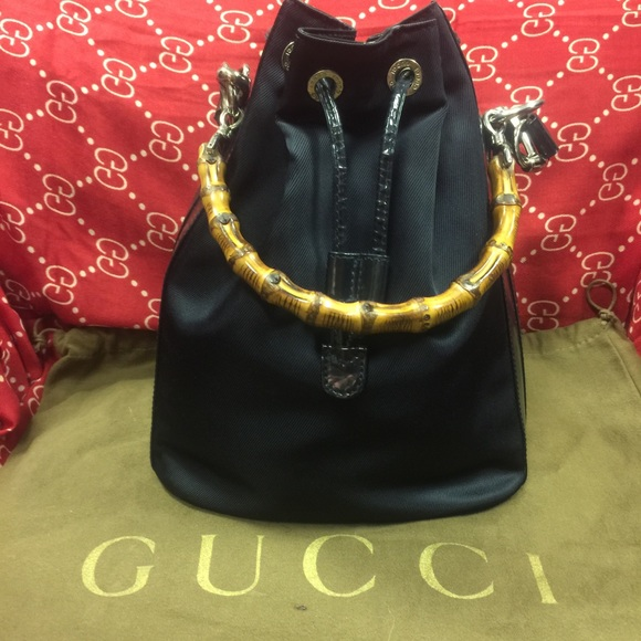 25a75f53adad Gucci Bags | Drawstring Bucket Bag With Bamboo Handle | Poshmark