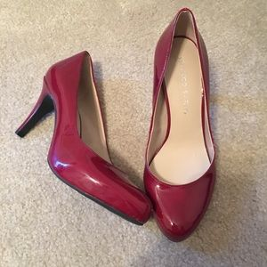 Red patent leather Franco Sarto heels