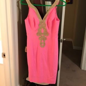 Lilly Pulitzer Emery Shift Dress in Pink Pout