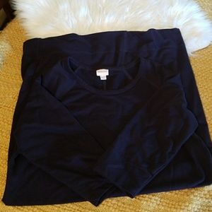 Merona Dark Blue Sweatshirt Dress