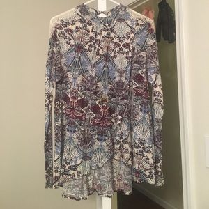 Free people high neck blouse
