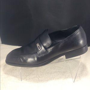 Men's Gucci black slip on logo loafers 12.5 D !