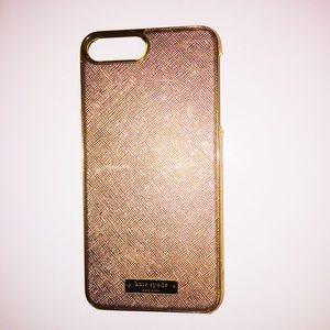 ROSE GOLD KATE SPADE PHONE CASE 7+