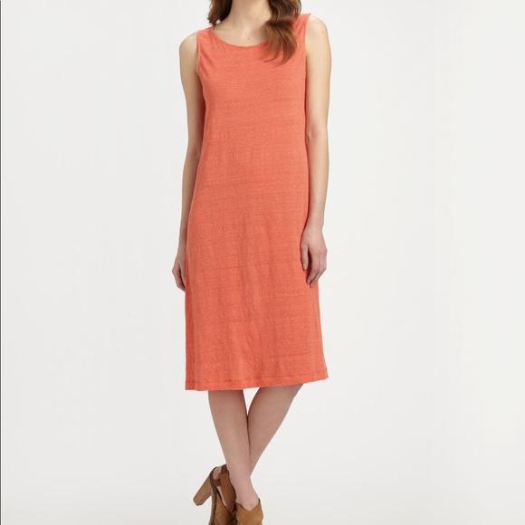 ce17c61844c1 Eileen Fisher Dresses   Skirts - Eileen Fisher Orange Striped Tank Dress NOE