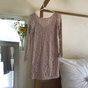 Blush Pink Lacy Dress