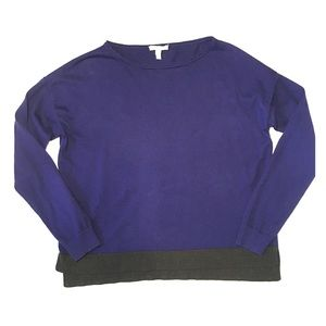 Eileen fisher Dolman Sleeve color block sweater S