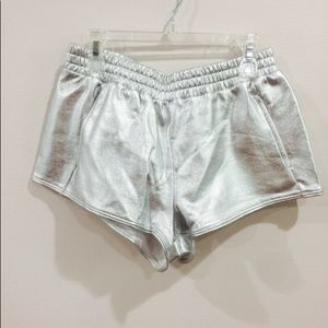 Forever 21 metallic silver shorts