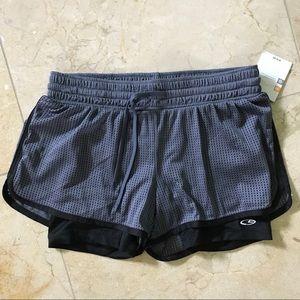 Pants - grey workout shorts
