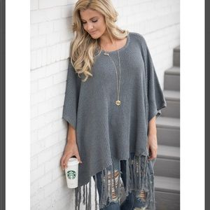 "The Pink Lily ""Take Me on a Journey"" Poncho"