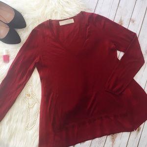 Zara Knit asymmetrical top two fabrics