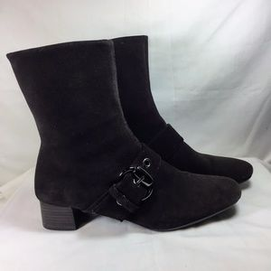 Etienne Aigner Brown Suede Winter Dress Boots 8.5