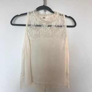 Free people lace open back top size s