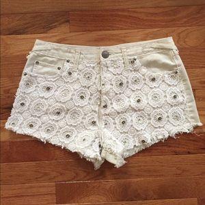 Free People Crochet Gem Shorts